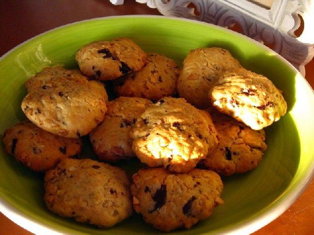 Cookies de almendra y chocolate