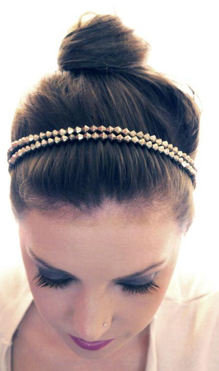 Updo Hairstyles Bun Updo With Beaded Headband Great