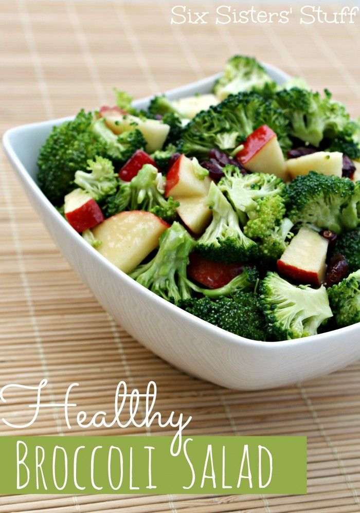 Healthy Broccoli Salad from SixSistersStuff.com