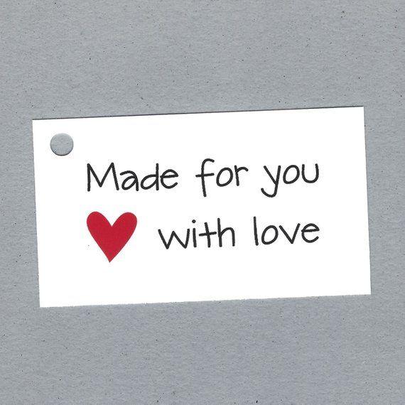 13fafab86413 Custom Made With Love Tags - Custom Handmade Craft Tags ...