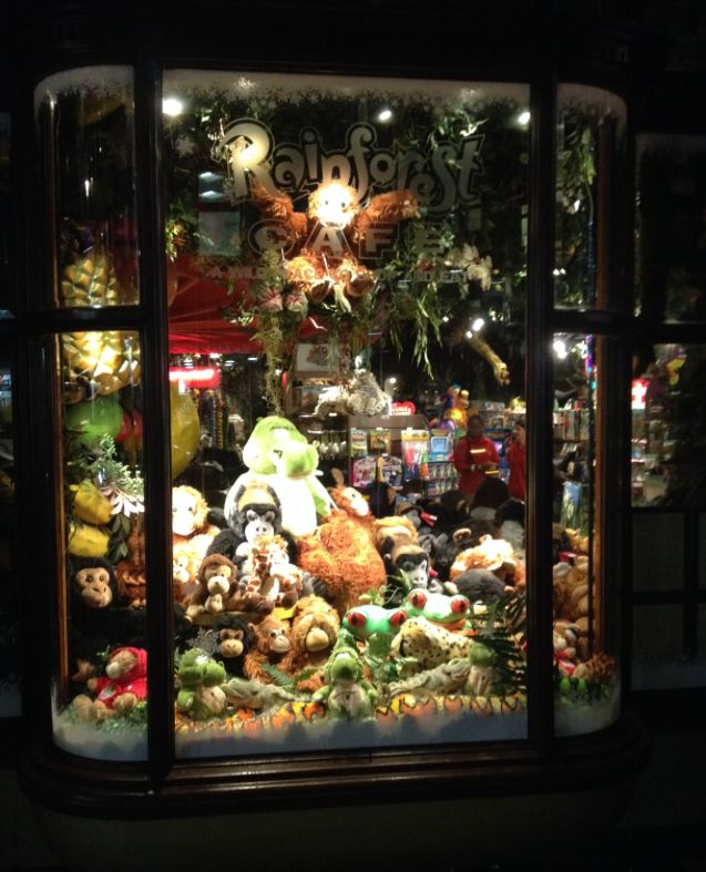 Our windows are feeling Christmassy too! http://www.therainforestcafe.co.uk/christmas.asp