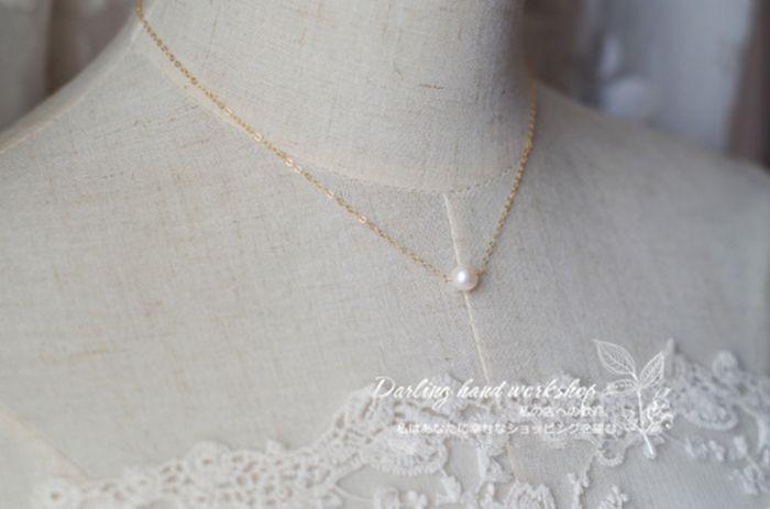 一粒パール ネックレス 14k 結婚式 彼女 プレゼント 大学生 http://www.noromoko.com/re010