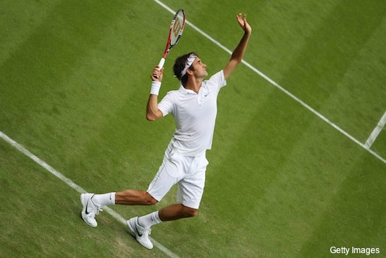 I like tennis. I like Roger.