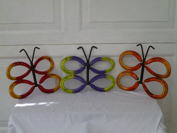 Hey, I found this really awesome Etsy listing at https://www.etsy.com/listing/82232689/horseshoe-butterfly-made-from-recycled