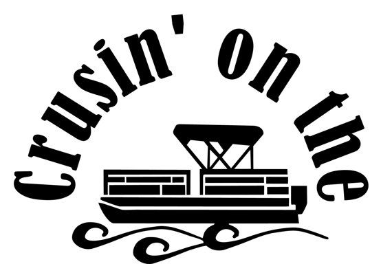$17 on Etsy Crusin' On The Pontoon Window Wall Decal Truck Boat Trailer Summer Lake Cottage Pond Summer Fun Fishing Tackle Box Sticker Swimming Camping