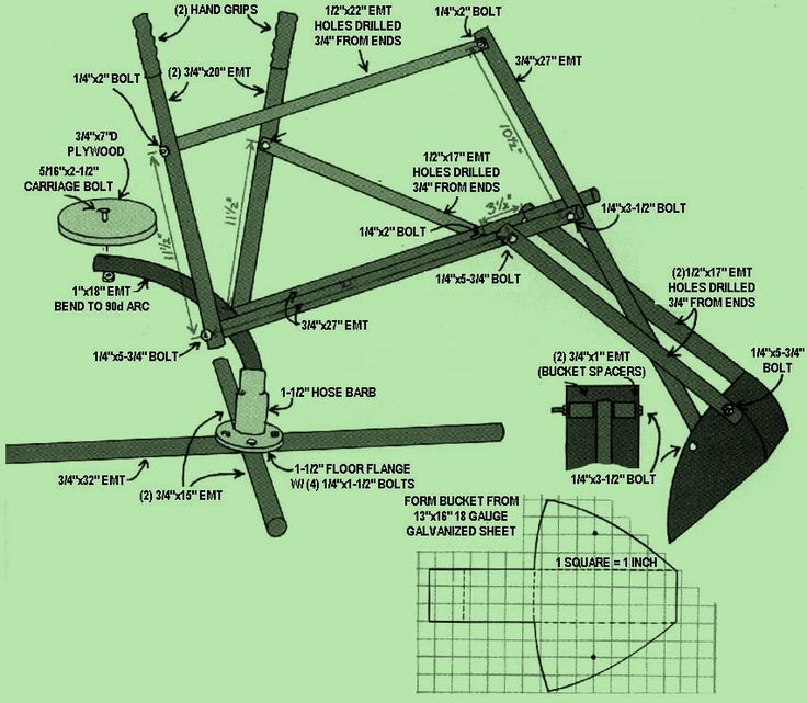 Digger Plans-Replacement sand digger aluminum bucket.
