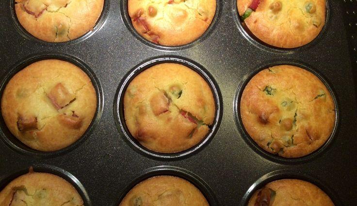 Muffin salati con farina di riso