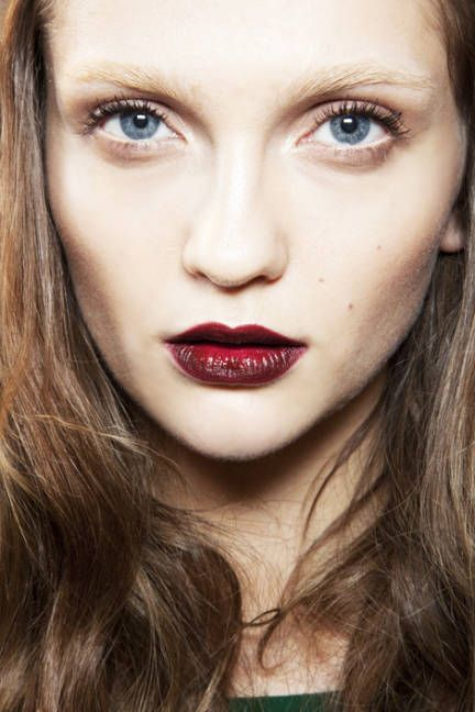 Fall 2012 Makeup Trends - ELLE    dramatic red lip.