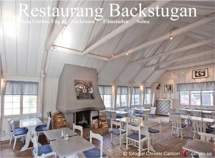 #Restaurang Backstugan Greta Garbos Väg Gamla #Filmstaden, Näckrosen #Solna, Sundbyberg, Stockholm