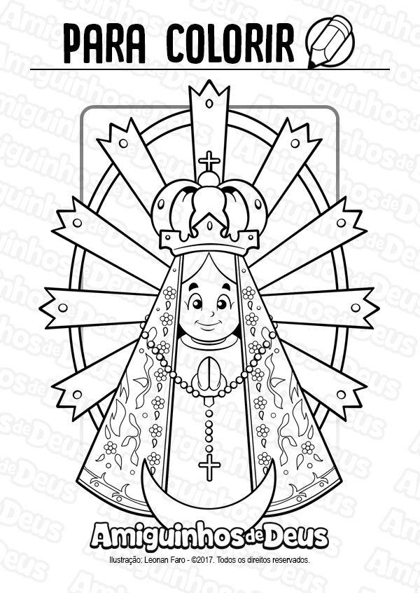 Nossa Senhora De Lujan Desenho Para Colorir Com Imagens