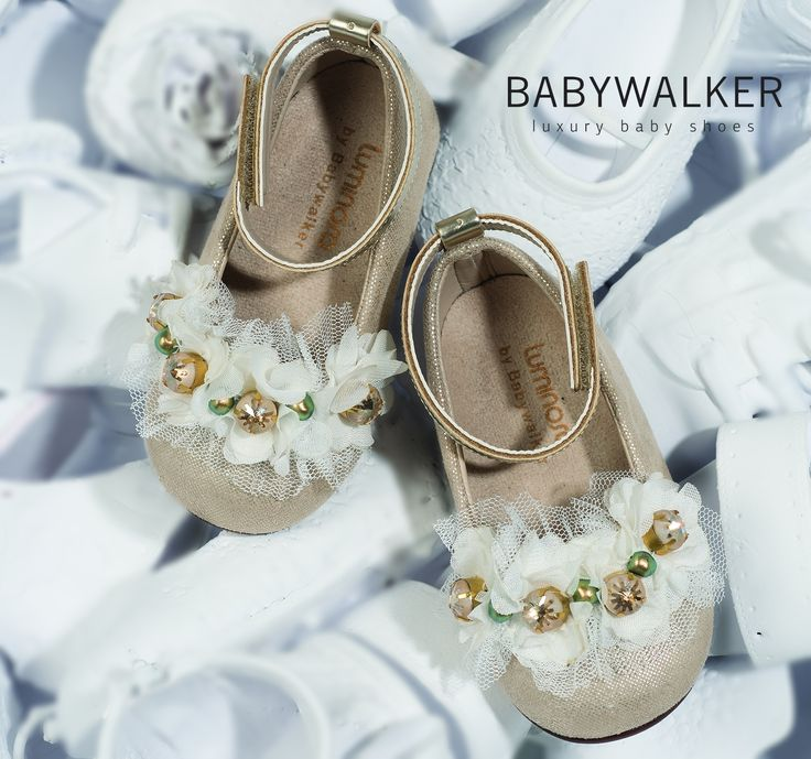 Handcrafted Luxury Balarinas with Swarovski Crystals by BAABYWALKER <3 #babywalker #shoes #babywalkershoes #balarina #girlshoes #kidsshoes #vaptistika #kidsfashion