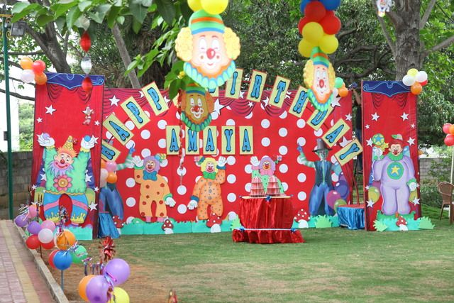 What a fantastic circus party backdrop! #circus #birthday