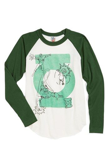 Junk Food 'Green Lantern' Baseball T-Shirt (Little Boys & Big Boys) available at #Nordstrom