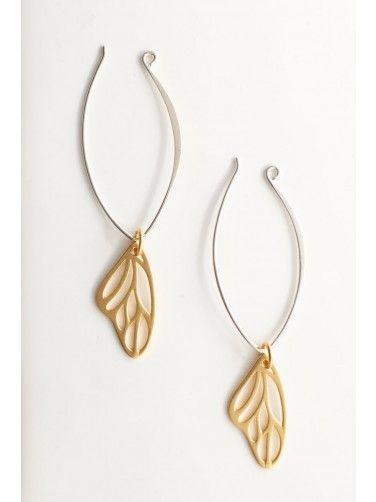 Gold Vermeil Butterfly Wing Earrings