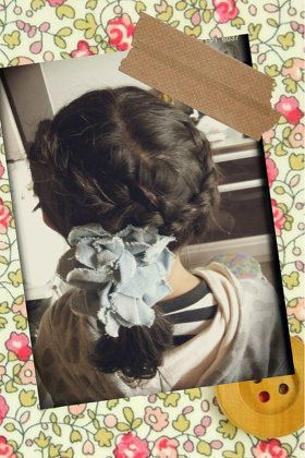 ヘアスタイル:娘の編み込みヘアスタイル