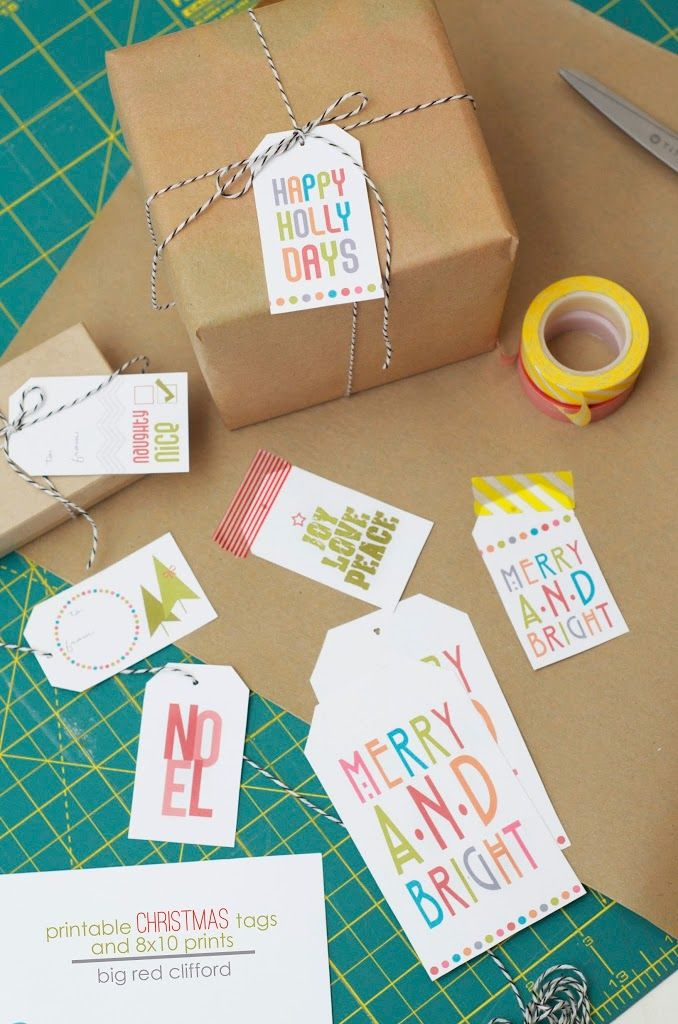 free printable christmas gift tags and prints