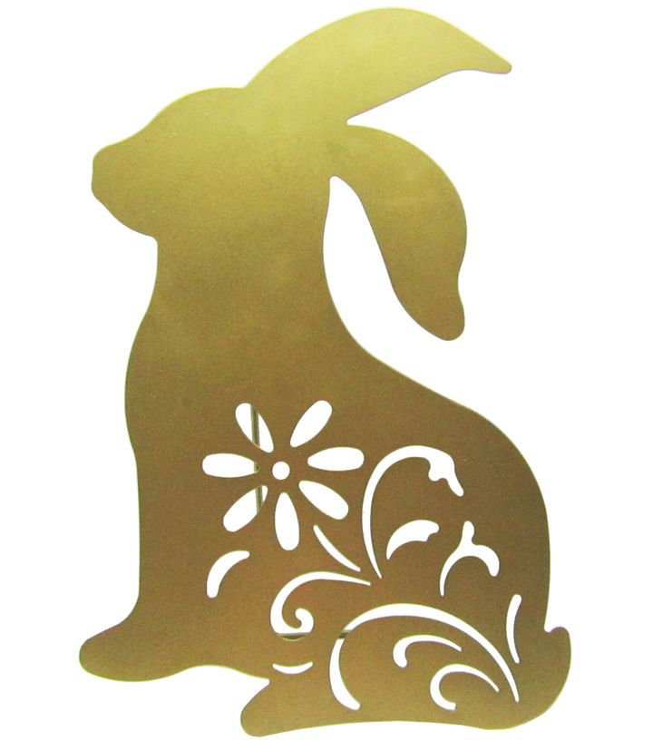 Easter Bunny Silhouette-Gold