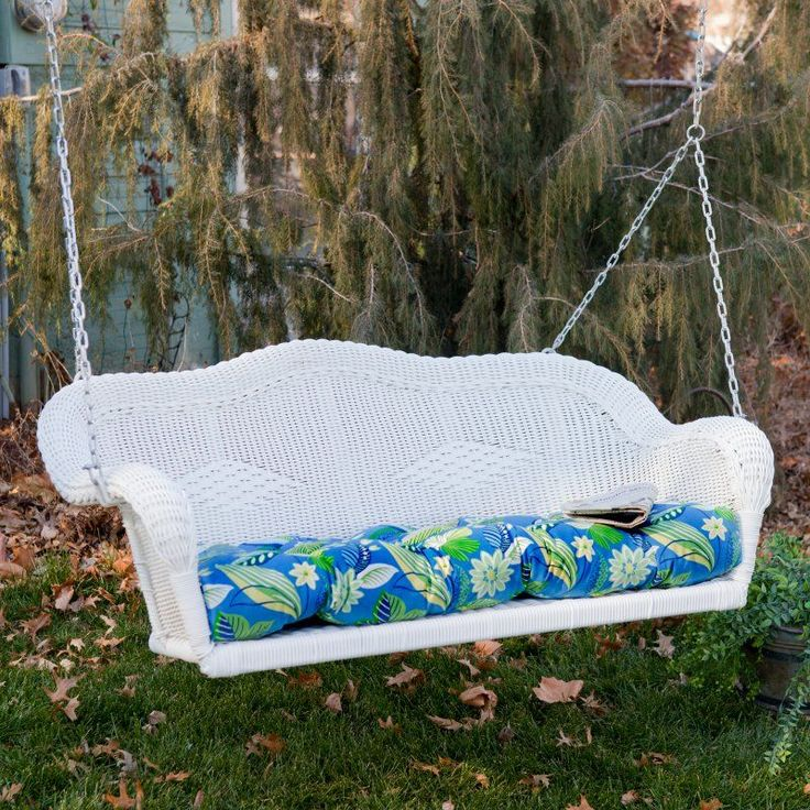 Blazing Needles All Weather Outdoor Porch Swing Cushion - 42.5L x 19.5W in.