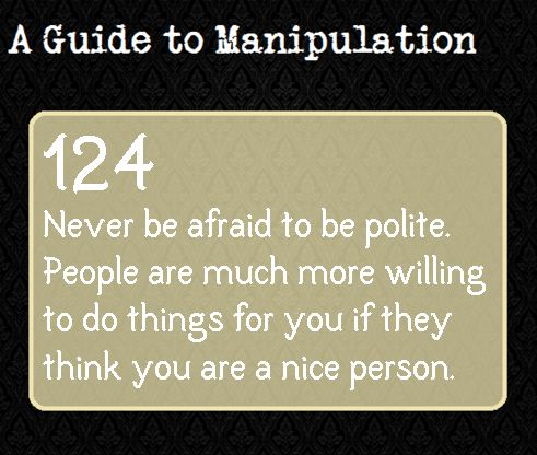 A Guide to Manipulation