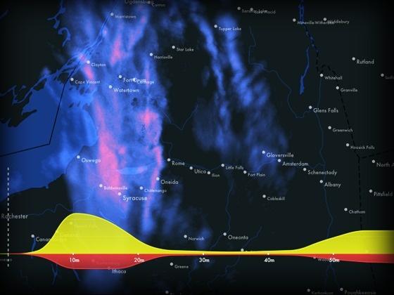 Dark Sky - Weather Prediction, Reinvented by Adam Grossman & Jack Turner, via Kickstarter.