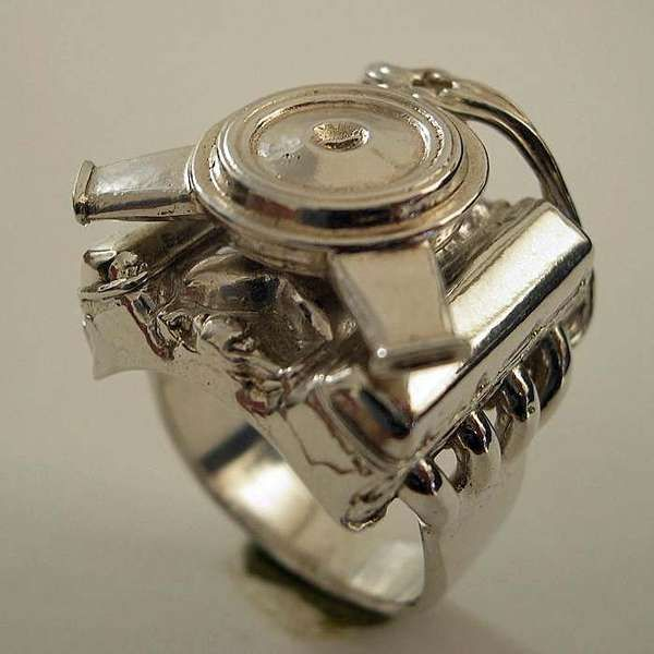 jewelry for gearheads engine ring and galleries