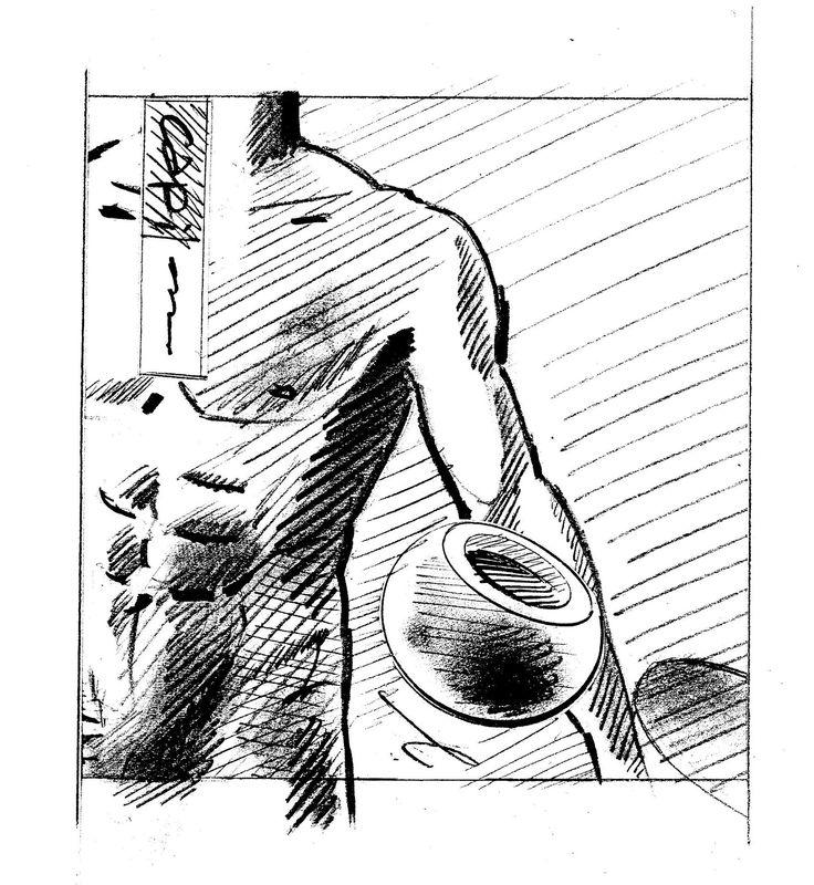 Man's torso. Drawing by Huub van Osch. Capi Europe. #capieurope  #blahblahism #huubvanosch #amsterdam