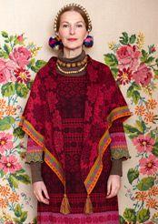 """Liilia"" cotton/wool shawl"