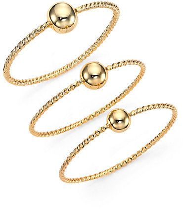 Giles & Brother Twist & Ball Triple Bangle Bracelet Set on shopstyle.com