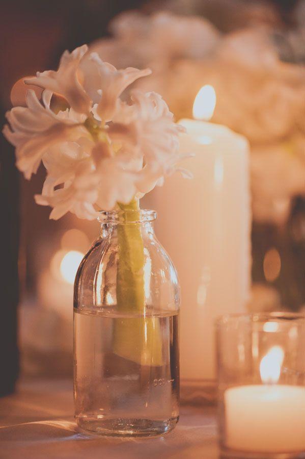 barrel room wedding table deocr