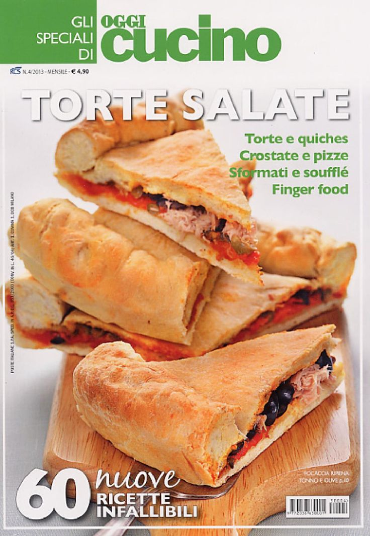 Gli SPECIALI di OGGI Cucino is the monothematic version of OGGI Cucino magazine.  It is a publication dealing with recipes only, which is published on a monthly basis.  FRITTI GOLOSI – LA PASTA FRESCA – I FORMAGGI – TORTE SALATE …. are just an example of the issues published already.  Gli SPECIALI di OGGI Cucino is a series of titles to collect in order to have ideas to prepare in one own's kitchen always available.