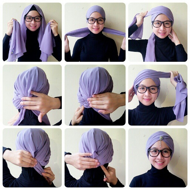 Turban Style Hijab Tutorial Pinterest Turban Style Turban And Scarves