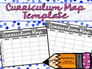13 best curriculum mapping images on pinterest classroom setup a free curriculum map template use it to help you map out your whole year pronofoot35fo Gallery