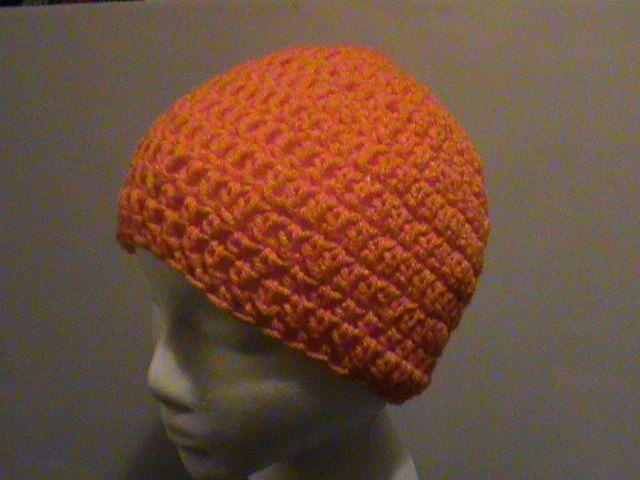 Orange Crochet Beanie - Ready to Ship (#100) by NoreensCrochetShop on Etsy