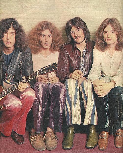 led zeppelin- love this!   Jimmy Page, Robert Plant, John Bonham, and John Paul Jones