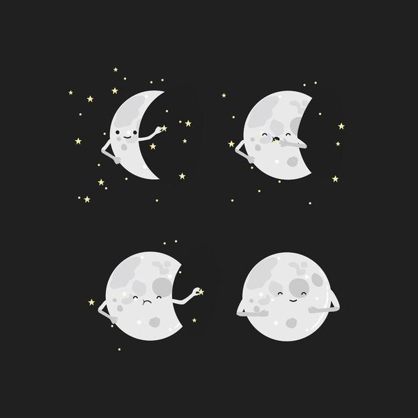 Full Moon by Wawawiwa Design: Art Prints, Illustration, Stretch Canvas, Artsy Fartsi, Moon Art, Wawawiwa Design, Humor, Full Moon, Sweet Dreams