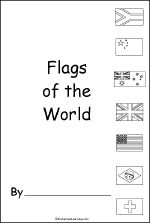 Harmony Day activity: flags of the world printable colouring book