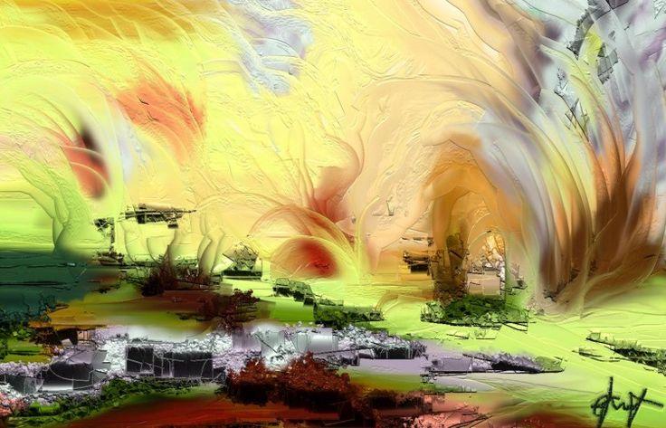 jeux de printemps - Digital Arts ©2014 by Gabriela Simut -  Digital Arts, Digital Painting