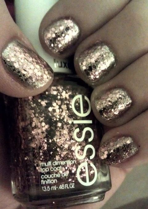 My Homemade Rose Gold Nails They Match Michael Kors Watch Nail Obsession Pinterest And