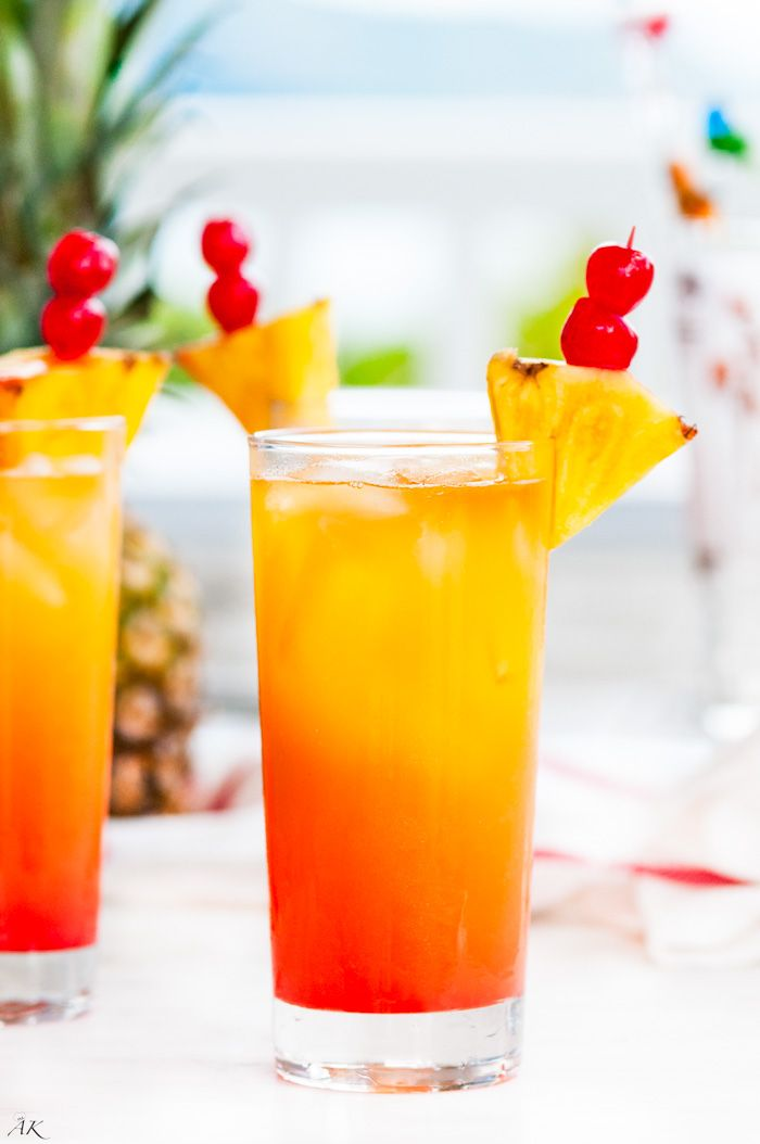 Tropical Mai Tai Cocktail recipe - A classic, tropical getaway cocktail made with rum and curaçao popular all summer long.
