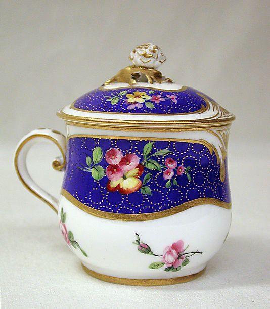 Sèvres Manufactory | Cup with cover (Pot à jus) | French (Sèvres) | The Metropolitan Museum of Art