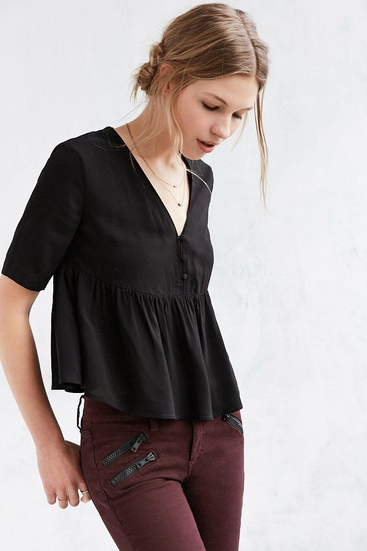 17 best ideas about peplum blouse on pinterest canoeing - Urban outfitters valencia ...