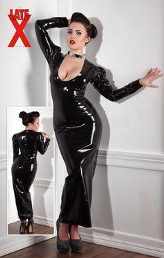 Vestito nero transparente by mariza