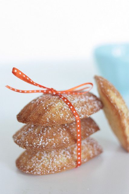 Orange Almond Madelines [ribbon] by patisserienatalie, via Flickr