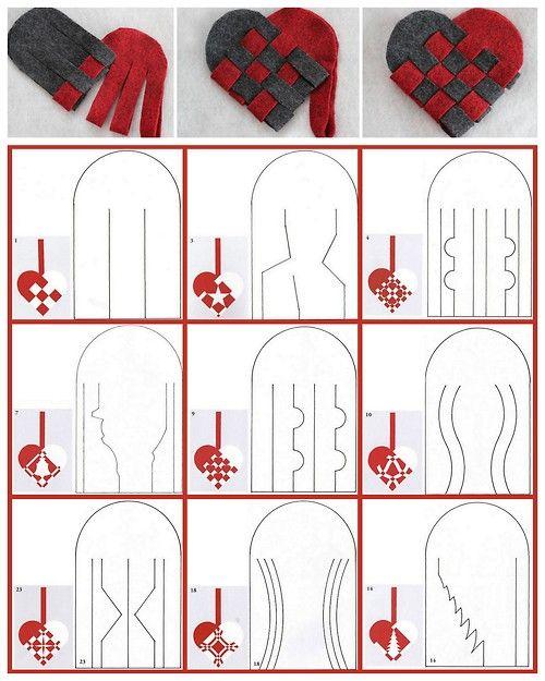 DIY 27 Woven Danish Heart Printables chatbreak here.http://www.chatbreak.dk/jul/flettehjerter/1.htm