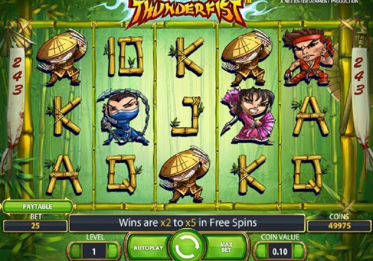 Den store lærer Thunderfist har samlet alle sine elever til en god kamp mod det onde. Oplev et fantastisk tema med drys af ninja og kung fu og se, hvilke gevinster du kan opnå. #Onlinevideoautomat #Thunderfist