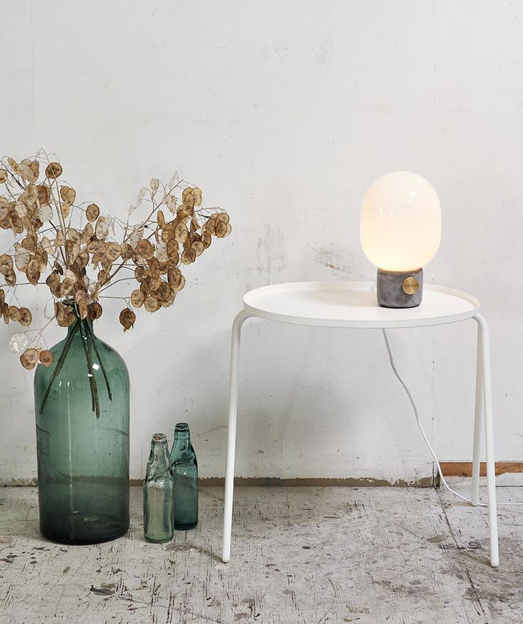 WDA Concrete Lamp fits perfectly into any style of interior, ready to adorn a bedside table, desk or sofa table. Which suits Jonas just fine. | huntingforgeorge.com
