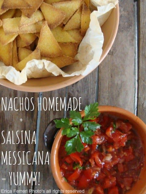 Nachos and  Mexican sauce homemade! (perfect for the oven or frying) - Nachos fatti in casa con salsina messicana! (perfetti per il forno o per friggere)