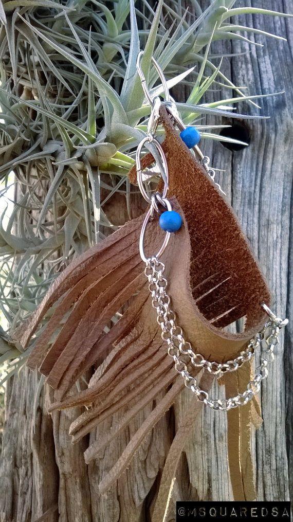 Genuine Leather Fringe Bracelet by MSquaredSA on Etsy, $10.00