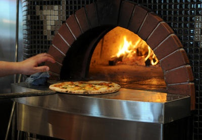 Wood-oven pizza at Boca Pizzeria in Corte Madera