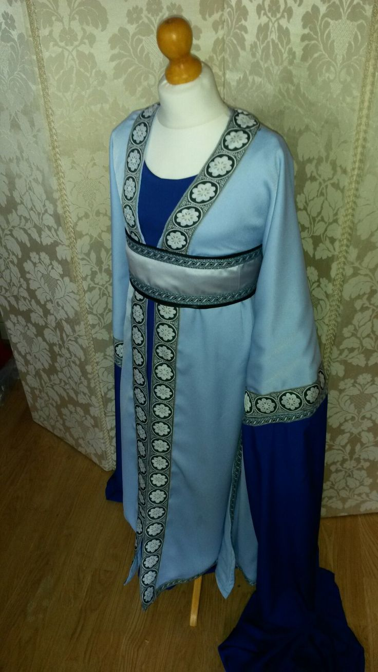 Chinese water dance costume.  Custom made from £350 #sewing #costume #maker #satin #patterncutting